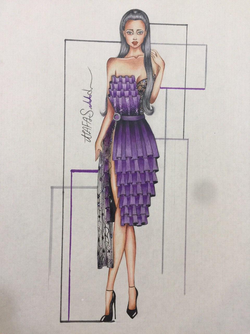 آموزش طراحی لباس - نفس محمدی -مدل لباس