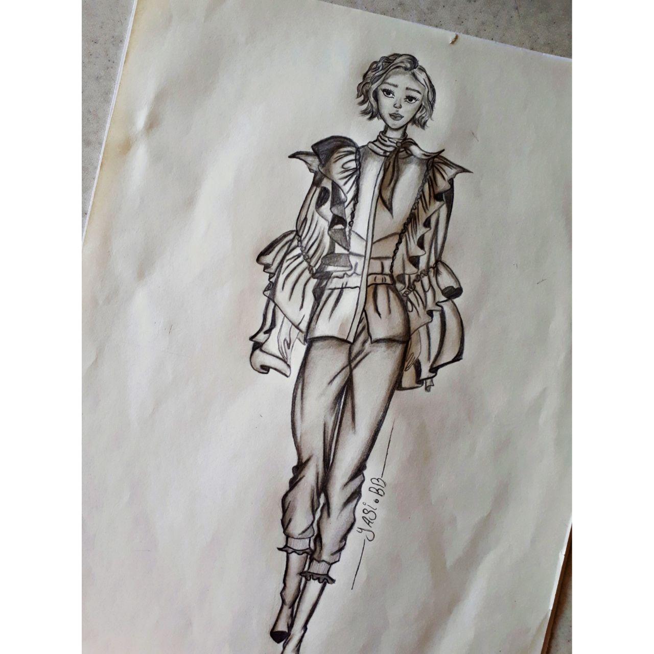 نمونه کار دانشجو آموزشگاه پیشکسوتان - محدثه کریمی -لباس شیک