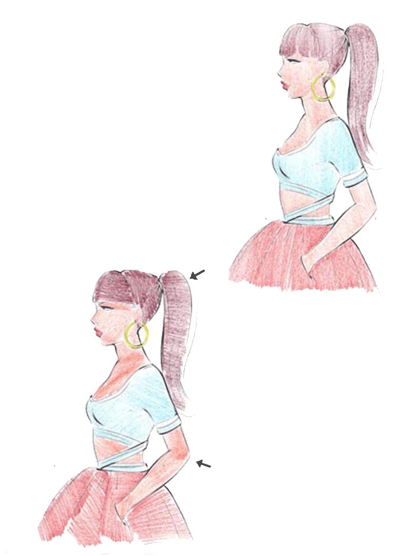 آموزش طراحی لباس با مداد رنگی به صورت گام به گام