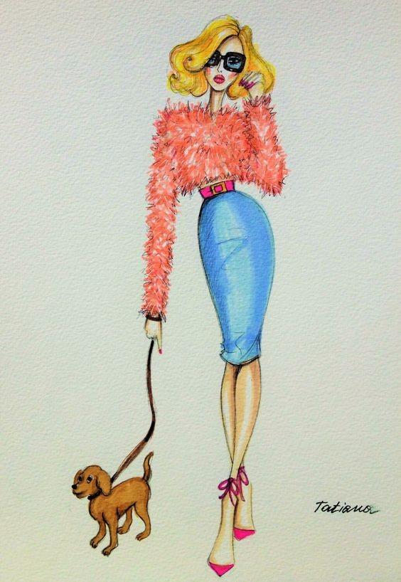 آموزشگاه پیشکسوتان - آموزش طراحی لباس با مداد رنگی