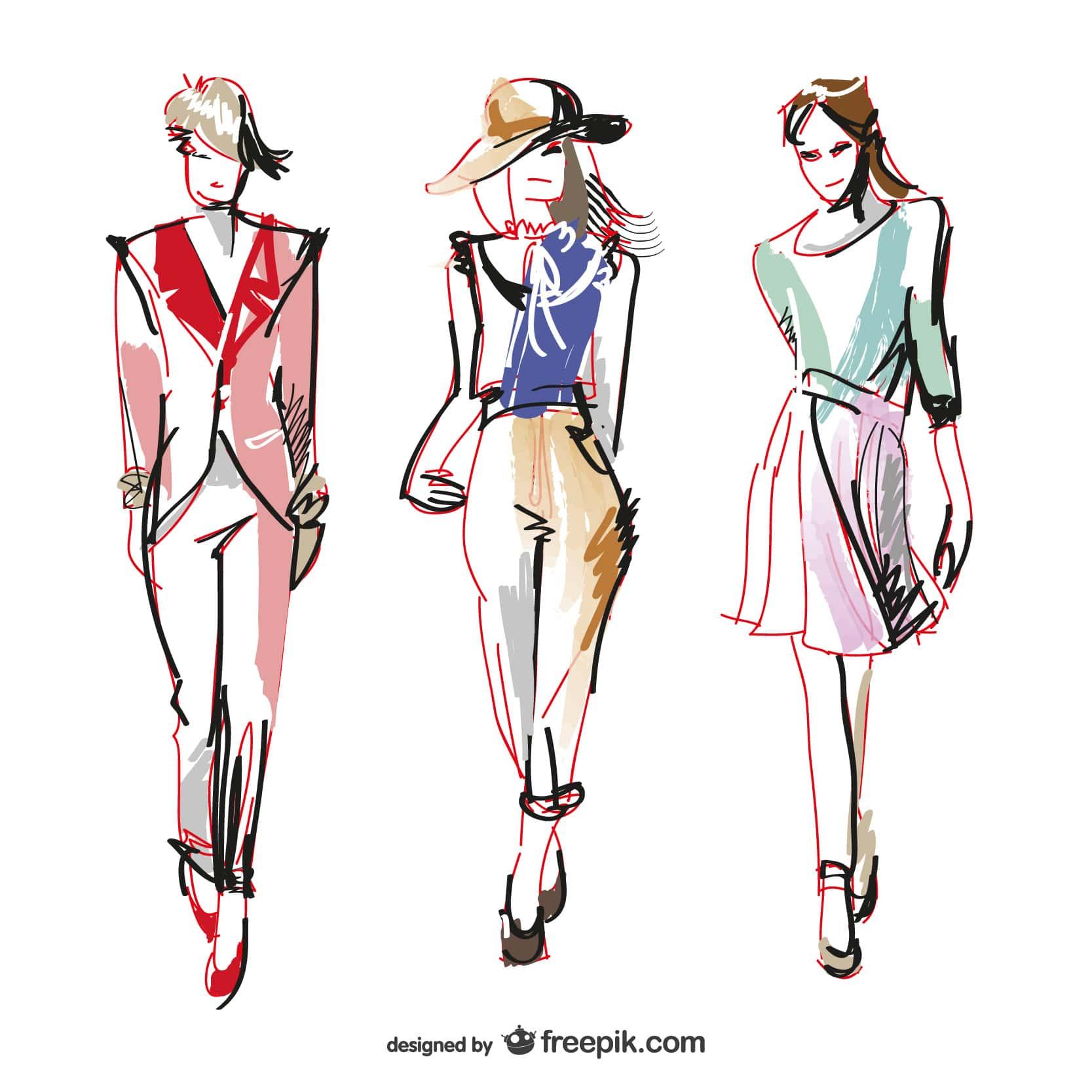 آموزش طراحی لباس - ایونت فشن