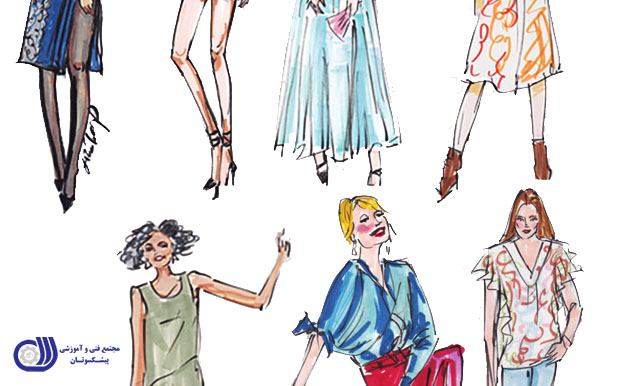 طراحی لباس در کنار تصویر سازی مد