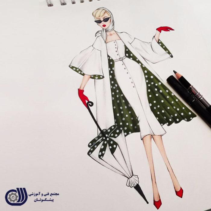 نمونه کارهای پیشکسوتان - آموزشگاه - مرکز آموزش طراحی لباس