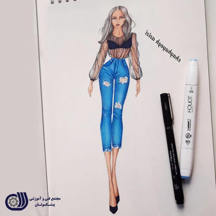 نمونه کارهای پیشکسوتان - آموزشگاه آموزش طراحی لباس