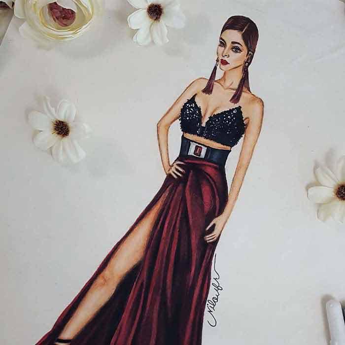 مد 1 آموزش طراحی لباس