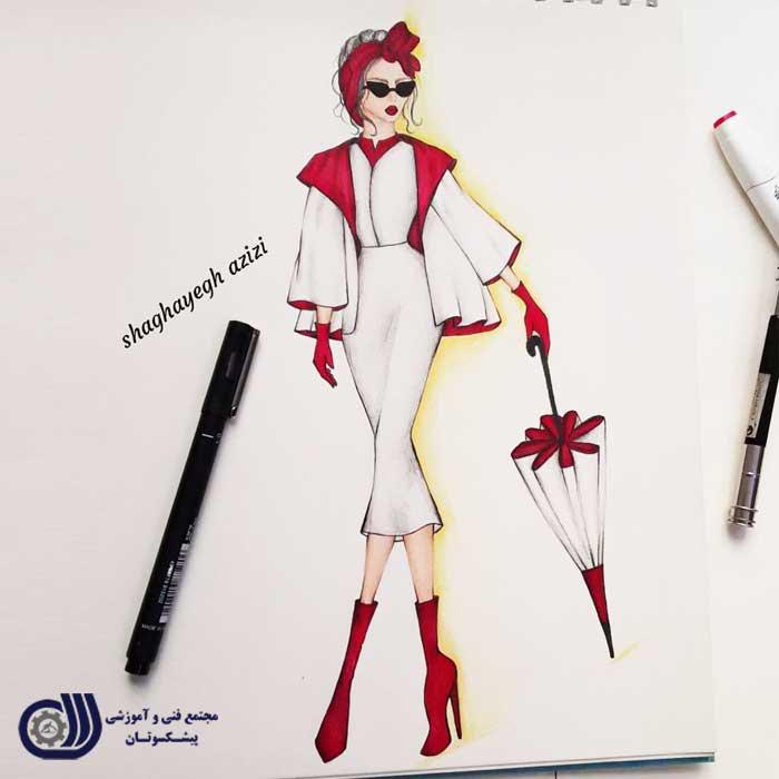 مد 5 آموزش طراحی لباس